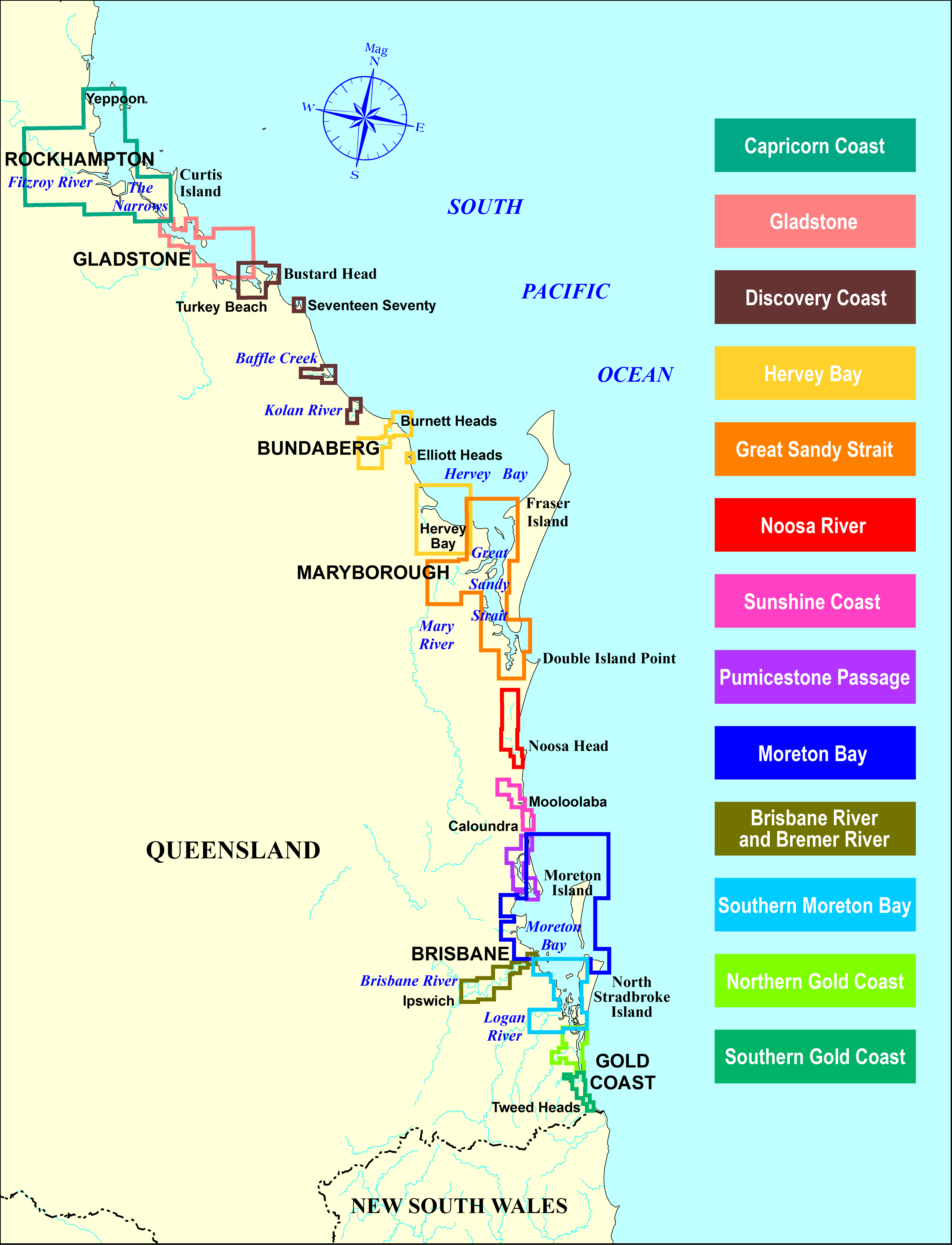Green Zone Maps Boating maps (Maritime Safety Queensland) Green Zone Maps