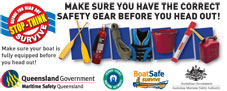 image of a sticker showing safety equipment for the Torres Strait region